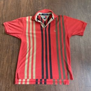 VINTAGE Tommy Hilfiger Multicolored Striped Polo